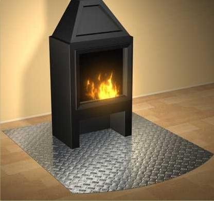 Bodenschutzplatten für Kaminöfen