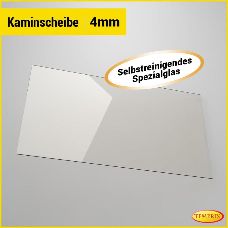 Kaminglas selbstreinigend feuerfestes Ofenglas Kaminscheibe Kamin 370 x 240 mm
